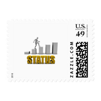 Improve Your Status or Business Process as Concept Postage Stamp