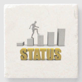 Improve Your Status or Business Process as Concept Stone Coaster