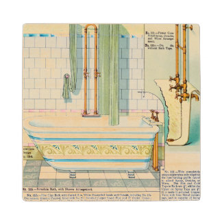 Improved Baths and Showers from a catalogue of san Wooden Coaster