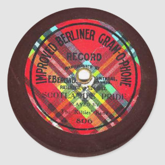 """Improved Berliner Gramophone"" record sticker"