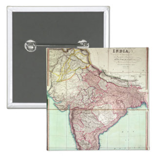 Improved Map of India published in London 1820 Pinback Button