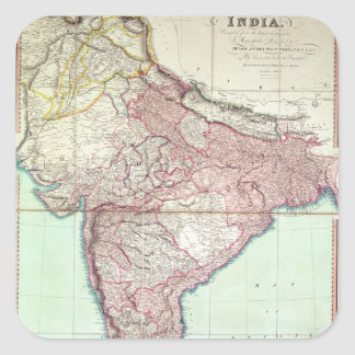 Improved Map of India published in London 1820 Square Sticker