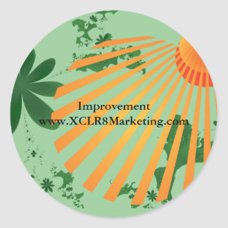 Improvement Round sunrise stickers