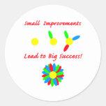 Improvement Success Classic Round Sticker
