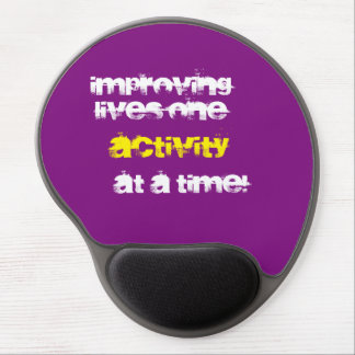 """Improving lives...."" mouse pad"