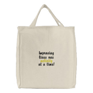 """Improving lives"" tote bag"