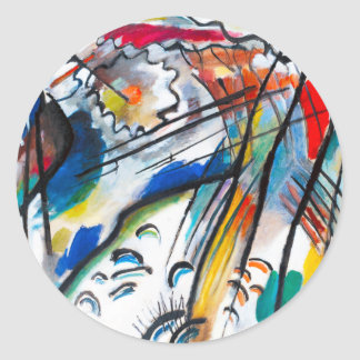 Improvisación de Kandinsky 28 pegatinas Pegatina Redonda