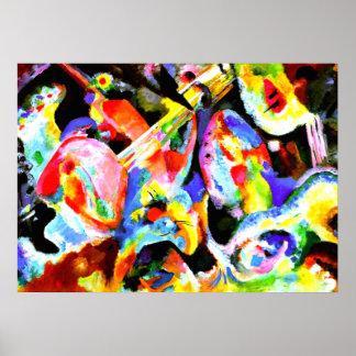 Improvisación de la inundación, arte abstracto por