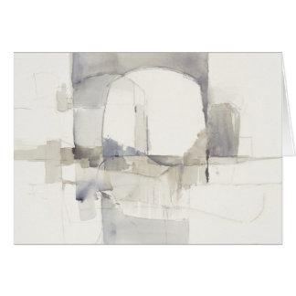 Improvisation I Gray Abstract Print Card