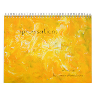 Improvisations Abstract Expressionist Calendar