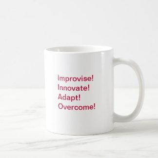 Improvise, Innovate, Adapt, Overcome! Classic White Coffee Mug