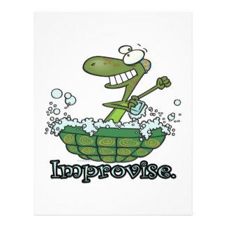 improvise turtle shell tubby tub cartoon flyer