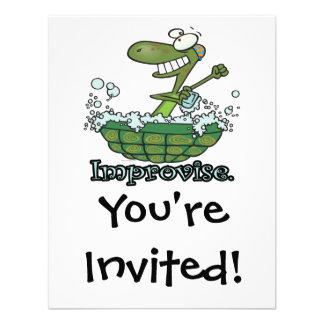 improvise turtle shell tubby tub cartoon custom announcements