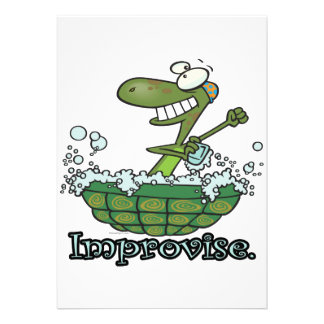 improvise turtle shell tubby tub cartoon announcements
