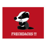 Impudent badger post card