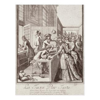 Impuesto de encuesta, 1709 tarjeta postal
