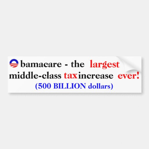 Impuesto de Obamacare Pegatina De Parachoque