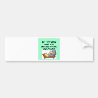 impuesto feliz etiqueta de parachoque