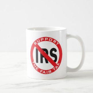 impuesto justo tazas de café