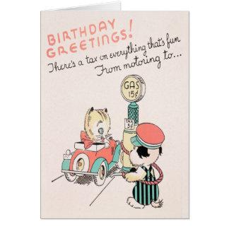 Impuesto sobre cumpleaños tarjeta de felicitación