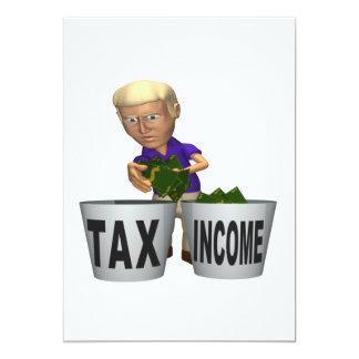 Impuesto sobre la renta invitación 12,7 x 17,8 cm