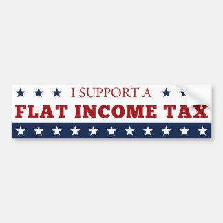 Impuesto sobre la renta plano pegatina para auto