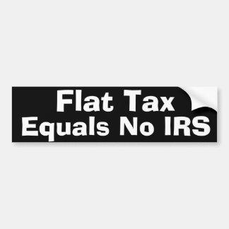 Impuesto único etiqueta de parachoque