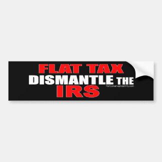 Impuesto único - desmonte el IRS Etiqueta De Parachoque