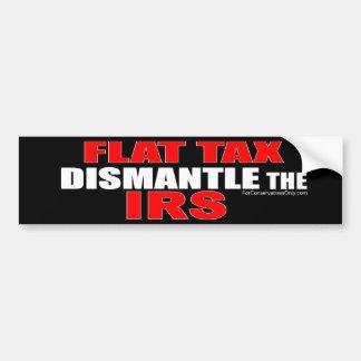 Impuesto único - desmonte el IRS Pegatina De Parachoque