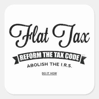 Impuesto único pegatina cuadrada