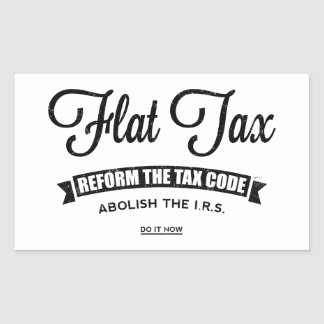 Impuesto único pegatina rectangular