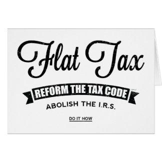 Impuesto único tarjeta de felicitación