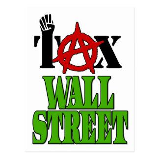 Impuesto Wall Street -- Ocupe Wall Street el 99% Tarjeta Postal