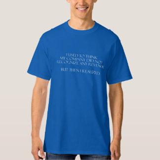 Impuesto y camiseta del contable camisas