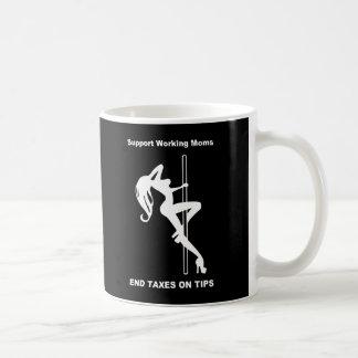 Impuestos del final de las mamáes de taza de café