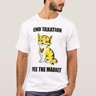 Impuestos del final - libere el mercado - camiseta