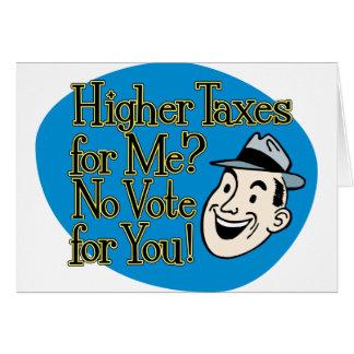 ¿Impuestos más altos para mí? azul Tarjeta
