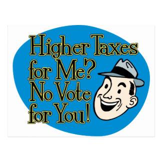 ¿Impuestos más altos para mí? azul Postal