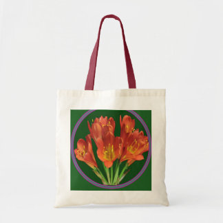 Impulse 2 color Tote Red Flower Red Handles