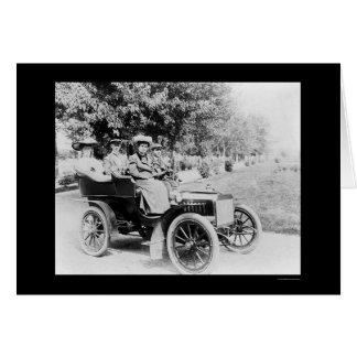 Impulsión 1907 del automóvil de domingo tarjeta de felicitación