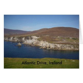 Impulsión atlántica, isla de Achill, Irlanda Tarjeta De Felicitación