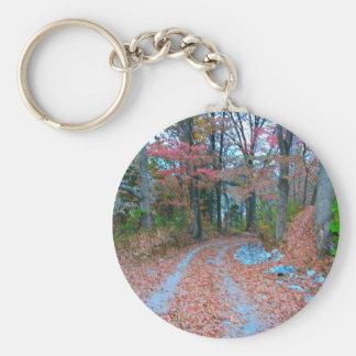 Impulsión de fascinación de la tarde del otoño llavero personalizado