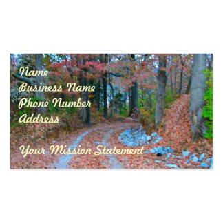 Impulsión de fascinación de la tarde del otoño tarjetas de visita