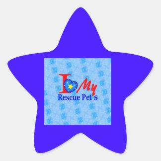 """""""Impulsión de la adopción de Bark4Rescue """" Pegatina En Forma De Estrella"""