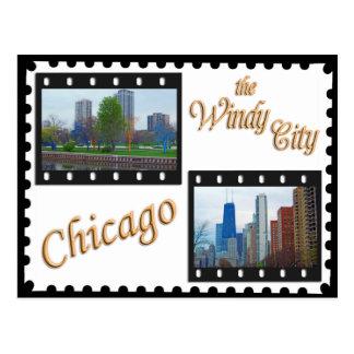 Impulsión de la orilla del lago chicago s tarjeta postal