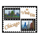 Impulsión de la orilla del lago chicago's tarjeta postal