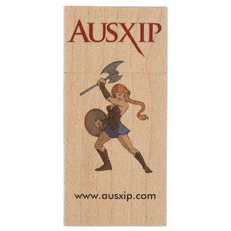 Impulsión de madera del arce de AUSXIP USB con el Pen Drive De Madera USB 2.0