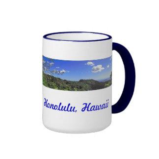 Impulsión de Tantalus, Honolulu, Hawaii Tazas De Café
