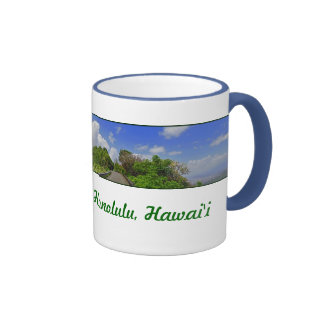 Impulsión de Tantalus, Honolulu, Hawaii Taza