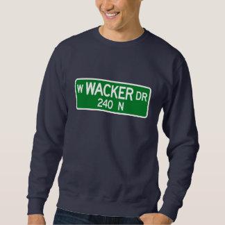 Impulsión de Wacker, placa de calle de Chicago, IL Sudadera